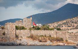 Ruiny antyczne zamku w Bodrum, Turcja