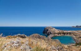 Zatoka Lindos pod Akropolem