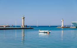 Wejście do portu wyspa Rodos