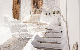 Budynek miasta Lindos, wyspa rodos w Grecji.