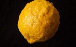 Cytryna na czarnym tle