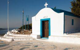 Kapliczka na górze w Faliraki wyspa Rodos