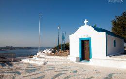 Kapliczka na wzgórzu w Faliraki