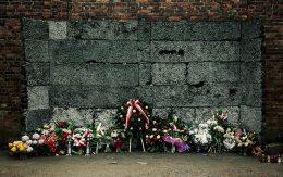 Ściana śmierci obóz auschwitz