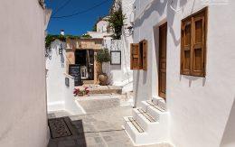 Grecka architektura białe budynki