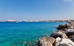 wybrzeże Rodos - port.