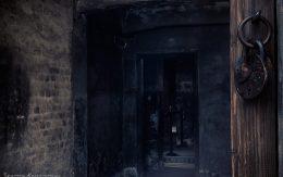 Enter to gas chamber Auschwitz