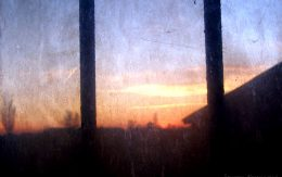 Widok z okna w obozie Birkenau