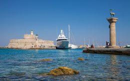 Rodos, Grecja port Twierdza Świętego Mikołaja