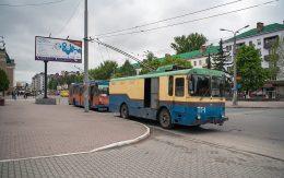 Miasto Iwano Frankiwsk Ukraina autobusy na dworcu