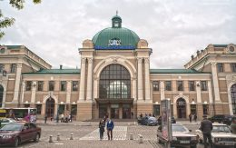 Miasto Iwano Frankiwsk Ukraina - dworzec kolejowy