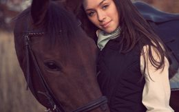 hors and woman