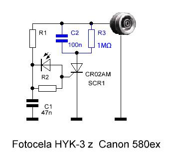 schemat elektroniczny fotoceli do lampy canon
