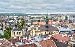 ratusz Widok z wieży Ratusza Miasto Iwano Frankiwsk Ukraina