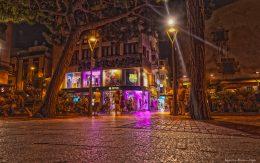 ulice nocą Lloret de mar