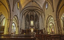 Wnętrze kościoła w Lloret de mar