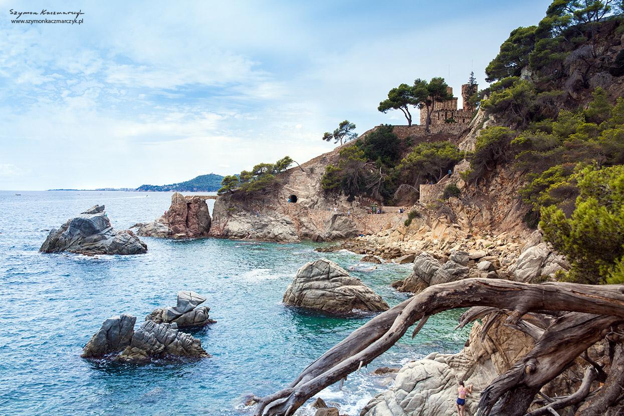 Widok ze szlaku do Tossa de mar