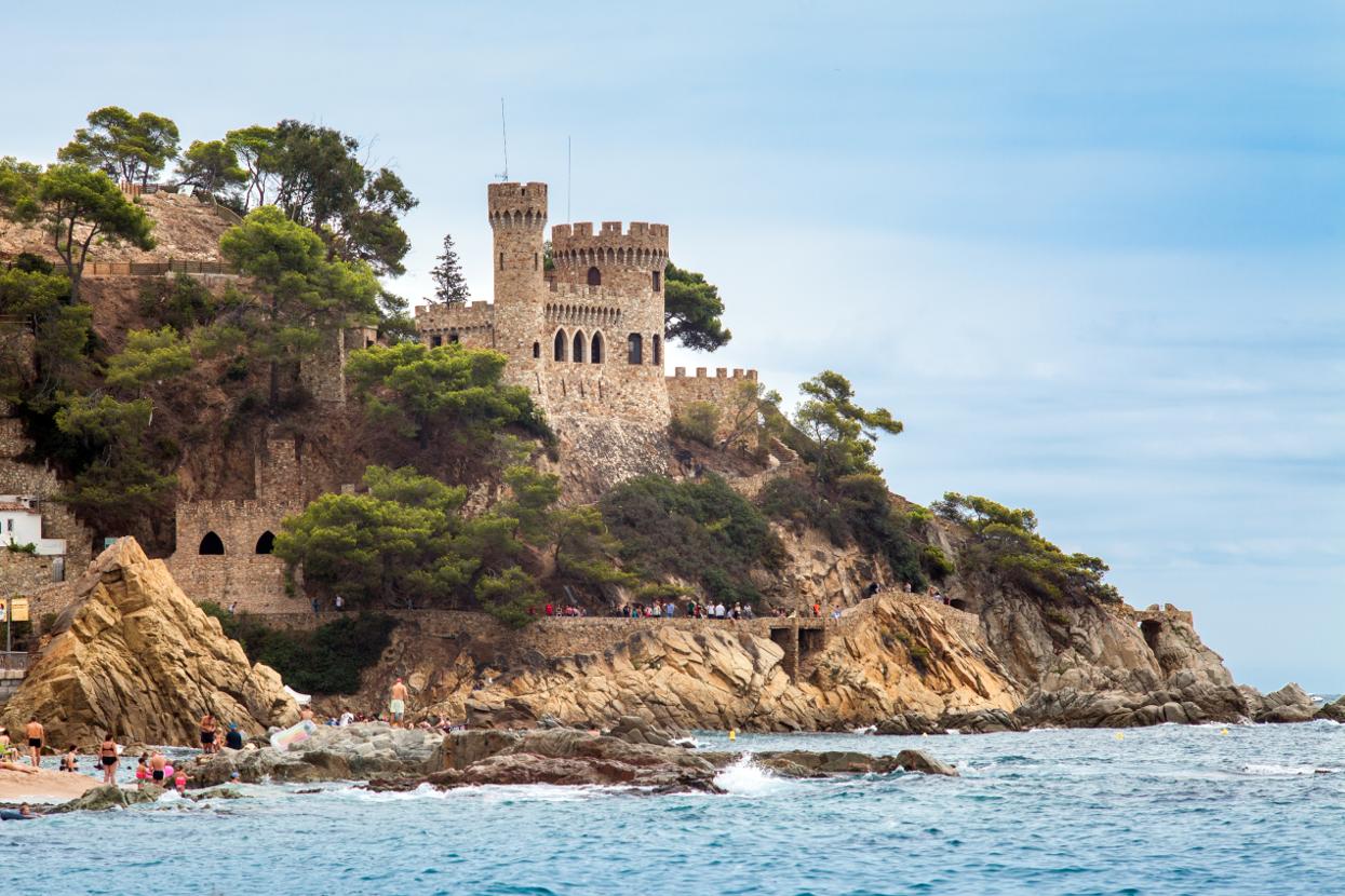 Zamek i plaża Lloret de mar