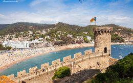 Wieża zamkowa i fragment murów obronnych Tossa de mar