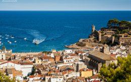 Tossa de Mar, Katalonia. Wybrzeże Costa Brava Hiszpania.