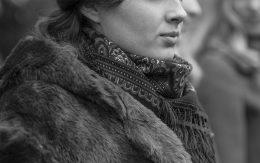 Piękna kobieta stylizacja retro
