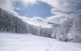 Zimowe wejście na Tarnicę.