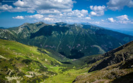Cień chmur w gorach