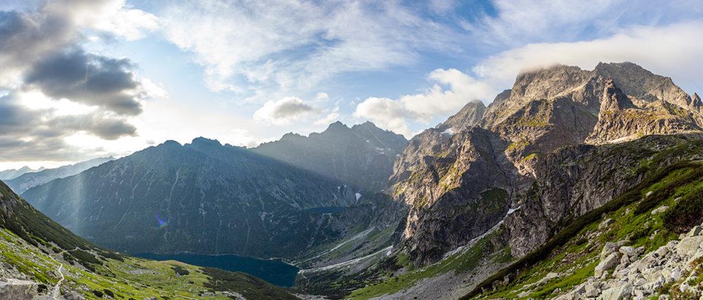 Panorama tatry czarny staw i morskie oko