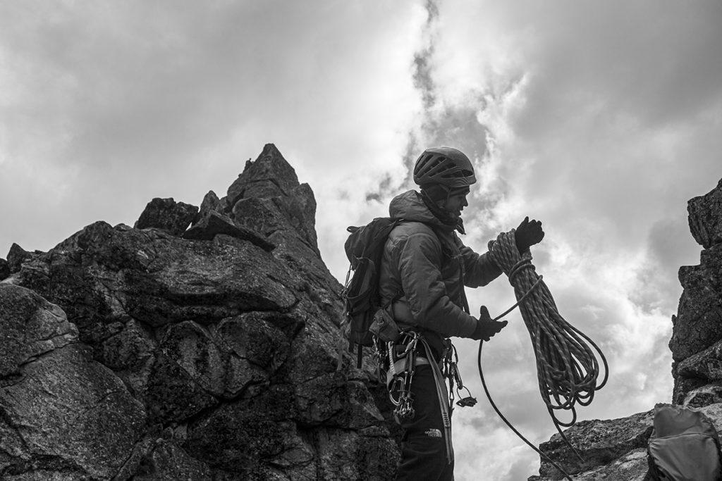 Zwijanie liny alpinistycznej